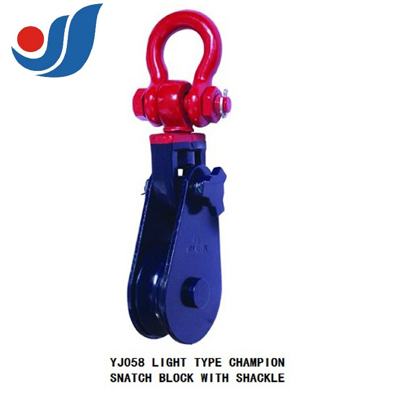 H419 LIGHT TYPE CHAMPION SNATCH BLOCK WITH SHCKLE