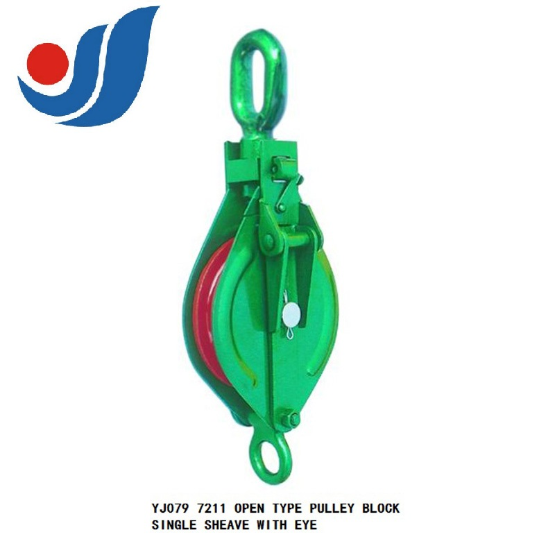 YJ079  OPEN TYPE PULLEY BLOCK SINGLE SHEAVE WITH EYE